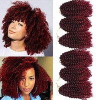 Wholesale afro curl braiding hair for sale - Group buy Malibob Afro Kinky Curl Crochet Braids inch Jerry Curl Ombre Kinky Curl Synthetic Braiding Hair Pieces
