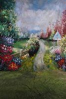 муслиновый фон оптовых-10x20ft ручная роспись натуральных живописных фонов муслин фотографии свадьба, 100% хлопок фотостудия фоны