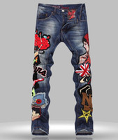 nouveau pantalon grande jambe achat en gros de-jean grande taille de style corée nouvelles femmes BDGE jeans de luxe hommes denim pantalon blanc jeans jambe Streight occasionnels Livraison gratuite 597