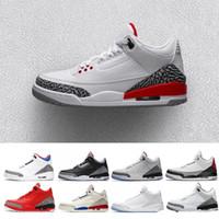 new style 91436 4654b Envío gratis para hombre Retro Rose Gold 3 Se Q54 Quai 54 Blanco 1 Negro  Rosa zapatos de baloncesto Mujer Quai54 Sneaker 8-13 nike Jordan Jordans  air jordan ...