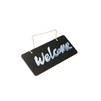 Wholesale chalkboard wedding signs for sale - Group buy Wooden Mini Blackboard Welcome Plate Chalkboard Message Sign With Hang String Wedding Party Decoration Marriage Supplies cm