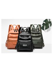 Wholesale men british backpacks for sale - summer new fashion trend backpack college classic business formal leisure British style leather men and women designer black travel outing