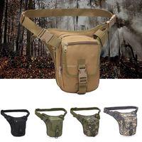 Wholesale waist leg bags resale online - 800D Oxford Outdoor Hunting Drop Leg Bags Adjustable Army Tactical Combat Waist Bag Motorcycle Riding Sports Leg Bag