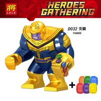 bloque de calidad al por mayor-Alta calidad Marvel Super Heroes legoings Infinity War Thanos Guardianes de Galaxy Avengers THOR Building Blocks Juguetes Figuras D032