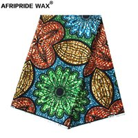 2021 african ankara fabric high quality wholesale african flower 100% cotton real wax brocade fabric for clothing A18F0408
