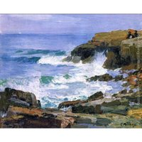 Wholesale beautiful sea painting resale online - Beautiful Edward Henry Potthast artwork for sale Looking out to Sea abstract paintings Canvas Handmade