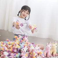 mini-bichos de pelúcia venda por atacado-Bonito Mini Unicorn Boneca Boutique Brinquedos de Pelúcia Pingente de Chaveiros Bichos de pelúcia brinquedos Presente de aniversário de Natal atacado