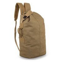 Wholesale sale backpacks for sale - Group buy Luxury Retro Canvas Mens Bag Outdoor Mountaineering Shoulder Backpack Male Large Capacity Travel Computer Backpack Fitness Bag Hot Sale