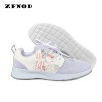 sapatas de lona pintadas mão da forma venda por atacado-Sapatos casuais 3D para as mulheres Harajuku impressão Canvas shoes2019 moda quente alta venda ilustrações pintadas à mão em estilo coreano