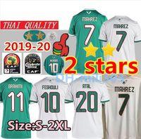 ingrosso tazza di calcio jersey-2019 Algeria CALCIO DI JERSEY SOCCER AWAY AFCON MAHREZ BRAHIMI BOUNEDJAH BOUAZZA 19 20 algerie CAMICIE DI CALCIO DI JERSEY