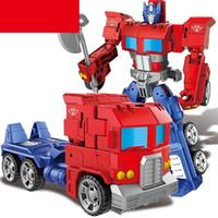 гаражные наборы моделей оптовых-Трансформация 91603 фильм аниме модель персонажа гараж комплект деформируемый автомобиль робот ABS пластиковый сплав отличная деталь игрушка для мальчика