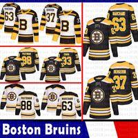 бостон хоккейные майки оптовых-Бостон Брюинз 33 Хоккейные футболки Здено Чара 37 Патрис Бержерон 63 Брэд Маршан 88 Дэвид Пастрнак 4 Бобби Орр Джерси 2018 2019 Новый