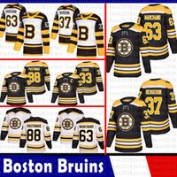 bd59f25f7dc Boston Bruins 33 Zdeno Chara Hockey Maglie 37 Patrice Bergeron 63 Brad  Marchand 88 David Pastrnak 4 Bobby Orr Jersey 2018 2019 Nuovo