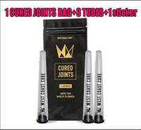 3 Joints West Coast Cure CURED JOINTS BAG +PLASTIC TUBES Packaging 2020 moonrock Preroll Pre-rolled tube packaging
