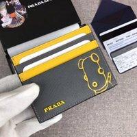 en iyi erkek deri cüzdanlar toptan satış-Sıcak en kaliteli klasik mektup en kaliteli moda stil lüks tasarımcı ünlü erkek kadın ünlü hakiki deri kredi kartı sahibi cüzdan