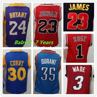 Wholesale jerseys toddler resale online - New youth Basketball Jerseys Toddler All Stitiched Children Stephen SC Kids Jersey KD Baby Jersey Ncaa College