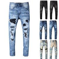 calças de carga do exército fino venda por atacado-Calças Designer Mens Nova Estilo Casual Skinny Sweatpants Mens Designer Jeans Gota Crotch Calça de Jogging Mens Jeans