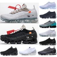 zapatos de punto para hombres al por mayor-2019 Classic Off-W Fly 1.0 2.0 3.0 Knit Flagship Shoes HombreMujeres Triple Blanco Negro Gris Zapatillas de deporte de diseño Diseñador de moda Zapatillas de deporte