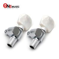 botões de ajuste de peg venda por atacado-Banjo 5th Geared Tuner Tuning Peg Machine Chefes com Pearl Button Chrome