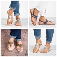 sapatos confortáveis macios lisos das senhoras venda por atacado-Sapatos Brilhantes Sandálias Sapatos de Fita de Estampa de Leopardo Babouche Senhoras de Fundo Liso Confortável Macio Anti Desgaste 26jtb f1