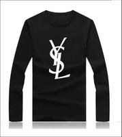 rindo animais venda por atacado-Paris mens 2019 roupas de grife de luxo mens designer de manga longa camisas de impressão Top de manga Longa roupas femininas roupas de grife das mulheres
