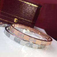навсегда любовь бриллиантов оптовых-Нержавеющая сталь гипсофил три Ряды кристаллического камня браслетов для женщин Love Forever Алмазного браслет дизайнер ювелирных изделий для женщин