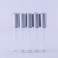 hochwertiges roll-parfüm großhandel-10 ml (300 teile / los) Hochwertige Metall Roll-on Flaschen Ätherische Öle Parfümflasche Leere Glasprobe Roller Flasche Großhandel