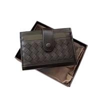 dokuma cüzdan toptan satış-Moda Klasik Dokuma tasarımları Deri Erkek Cüzdan Dana Sikke çanta Küçük Creditid Cüzdan Kısa Erkek Çanta Kartvizit Sahipleri