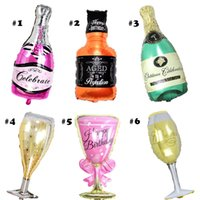 Wholesale Party Supplies - Champagne Cup Beer Bottle Balloons Aluminium Foil Balloon Helium Ballons Birthday Wedding Baby Shower Party Decor Supplies