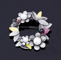 regalos de perlas chinas al por mayor-2019 Perla Piedra Nueva alta calidad del estilo chino de BSD Broche para el partido de las mujeres de regalos