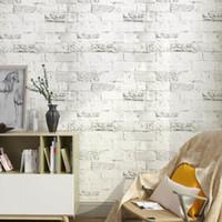 decoración de la habitación papel pintado autoadhesivo al por mayor-Nueva llegada PVC impermeable vinilo ladrillo piedra autoadhesivo papel tapiz para sala moderna decoración de la habitación pegatinas de pared casa mural