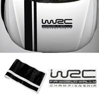 adesivos para carros wrc venda por atacado-Personalização WRC Stripe Car Cobre Vinil Racing Sports Decalque Cabeça etiqueta do carro para o foco VW cruze acessórios