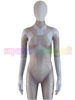ingrosso costumi da supereroe del capretto di zentai-Zentai Fantasma in Shell Major Cosplay Costume 3D Spandex Fantasma in Shell Supereroe Zentai Suit Per Adulti / Bambini / Custom Made