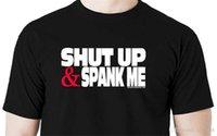 bdsm spank toptan satış-Erkekler Moda Kapa çeneni ve bana t gömlek kürek bdsm kırbaç spank manşet fetiş kontrol köle Yaz Tarzı Rahat Giyim
