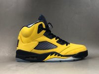 Wholesale synthetic bangs for sale - Group buy 2020 New Michigan Black Yellow M Reflective Basketball Shoes Cheap Sale Gao Bang High Quality Men Casual Sports Brand Designer Trainers