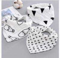 toalla de niños niña al por mayor-Bebé recién nacido niños niñas baberos dibujos animados 100% algodón bebé toalla pañuelos bufanda niños corbata infantil niños bufanda 13 estilos envío gratis
