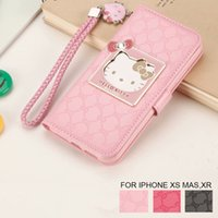 0794f0497 Fashion Women For Apple iPhone X XR XS Max 6 6S 7 8 Plus Phone Case Luxury Wallet  Hello Kitty Magnetic Flip PU Leather Cover