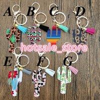 porte-clés pour les filles achat en gros de-Porte-clés Cactus Leopard Vache Tournesol pendentif porte-clés Gland personnalisé Porte-clés Mode Porte-clés pour les femmes Fille 2019 Nouveau