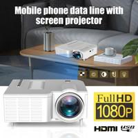 projetores de bateria construídos venda por atacado-UNIC UC28CB 1080p Projector LED portátil Cinema Teatro Mini Projector USB / SD / entrada AV Mini Entretenimento Projector