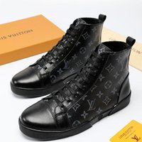LouisVuittonLV Fashion Shoes Sneakers for Men Footwears Athletic Trainers  with Origin Box High-Top Fashion Ankle Boots for Men Bot