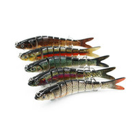 Wholesale segment fishing hard lures for sale - Group buy Fishing Wobblers Lifelike Fishing Lure Segment Swimbait Crankbait Hard Bait g cm Fishing Bait colors ZZA527
