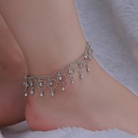 Wholesale dancing anklets feet for sale - Group buy New Jewelry Fashion Beach Dance Anklet Hot Sale Rhinestone Tassel Foot Ring
