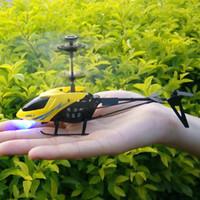 2ch rc helicopter remote control venda por atacado-RC 901 2CH levou Mini RC Radio helicóptero remoto aviões de controle Micro Controlador de RC Helicopter Crianças Drone Copter Com Gyro e luzes