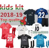 1376e66c6f7 Wholesale ronaldo jersey youth kids for sale - 2018 Real Madrid Kids soccer  jersey kit RONALDO