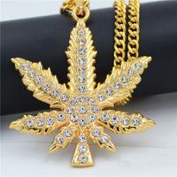 hip-hop-anhänger marke großhandel-2019 mode marke gold diamant halskette hip hop schmuck damen lange frauen gold kette anhänger trendy kristall