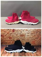 Wholesale boys basketball shoes for sale - Group buy kid basketball shoe little girl school run sneakers pink color fashion trainers kid shoes toddlers boy black basketball shoes eu