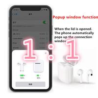 ses kalitesi toptan satış-2019 YENI Airpods Için Kablosuz Kulaklıklar W1 Çip Bluetooth Kulaklık durumda çalışır Dokunmatik Ses Kontrolü iCloud Bağlan En kaliteli