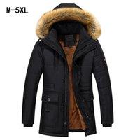 büyük kürk ceket ceketi toptan satış-Kış Büyük Hakiki Kürk Hood Ördek Ceketler Erkekler Sıcak Yüksek Kalite Aşağı Palto Erkek Rahat Kış Dış Giyim Aşağı Parkas