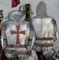 Wholesale knight belts for sale - Group buy Knights Templar D Printed Pullover Hoodies hooded Sweatshirts for Women men