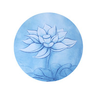 estera de yoga circular al por mayor-Mandala Almohadilla de Meditación de Goma Natural Circular Color Mezcla de Yoga Estera de Impresión Antideslizante Portátil Zazen Sit Alfombras 25jg E1